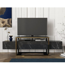 Meuble TV BIANCO marbre 160 cm