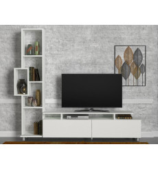 Ensemble meuble TV TULIP blanc 160 cm