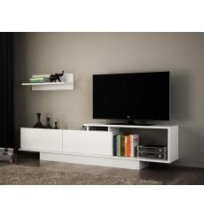 Ensemble meuble TV ASOS blanc 180 cm