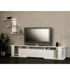 Ensemble meuble TV GAME blanc 180 cm