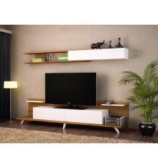 Ensemble meuble TV DREAM blanc noyer 154 cm