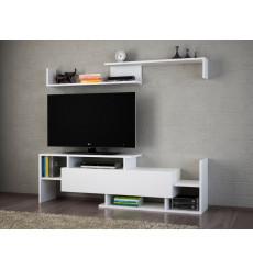 Ensemble meuble TV DREAM blanc 154 cm