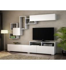 Ensemble meuble TV ELITE blanc 210 cm