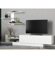 Ensemble meuble TV EGEMEN blanc 180 cm