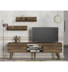 Ensemble meuble TV TESA noyer 150 cm