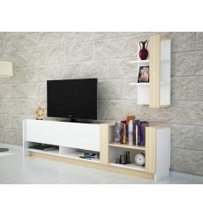 Ensemble meuble TV KAZABLANKA blanc saphir 182 cm