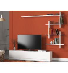 Ensemble meuble TV AHENK blanc 160 cm
