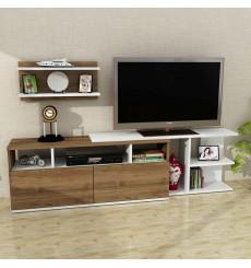 Ensemble meuble TV BESTE blanc noyer 180 cm