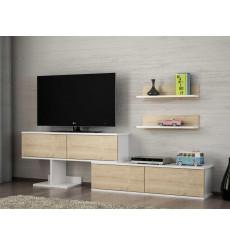 Ensemble meuble TV MAXIMUS blanc saphir 210 cm