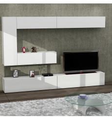 Ensemble meuble TV GIZMO blanc 240 cm