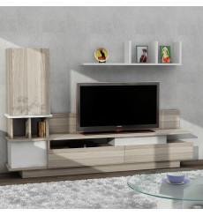 Ensemble meuble TV COMO blanc cordoba 149 cm