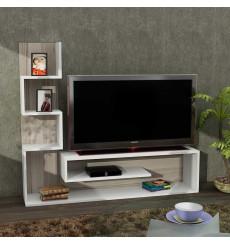 Ensemble meuble TV MARINA blanc cordoba 150 cm