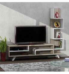 Ensemble meuble TV ISABEL blanc cordoba 120 cm