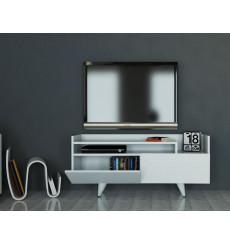 Meuble TV TROYA blanc 120 cm