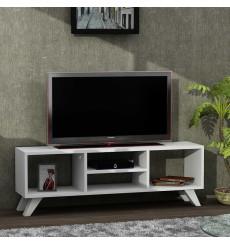 Meuble TV YAREN blanc 125 cm