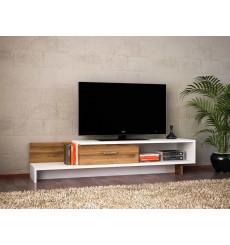 Meuble TV WRAP blanc noyer 162 cm