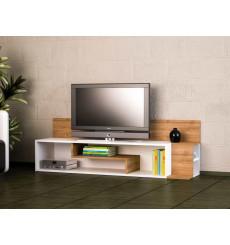 Meuble TV STREAM blanc noyer 160 cm