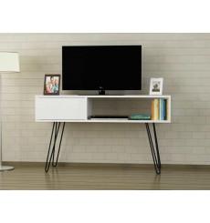 Meuble TV LARA blanc 120 cm