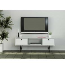 Meuble TV MODA blanc 120 cm