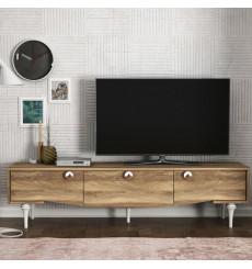 Meuble TV KUMSAL noyer 180 cm
