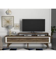 Meuble TV ROSSO blanc noyer 180 cm