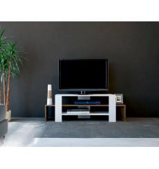 Meuble TV SOLE blanc noyer 120 cm