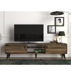 Meuble TV ATHES noyer 180 cm