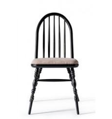 Chaise LAURA noir antique
