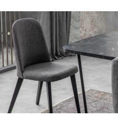 Chaise LOFT antracite-noir