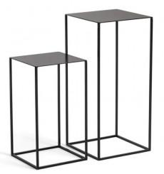Table d'appoint double en métal