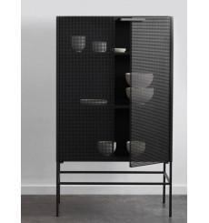Armoire polyvalente 2 portes en métal noir