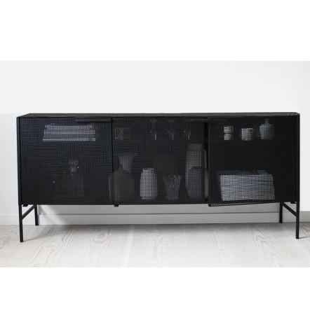 Buffet en metal noir 160 cm