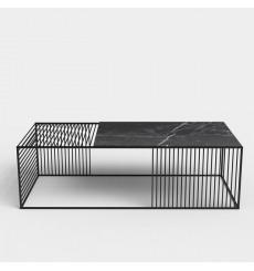 Table basse en marbre noir