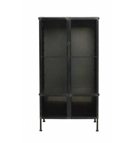 Armoire 2 portes en métal noir