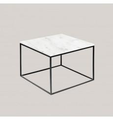 Table basse carrée en marbre blanc