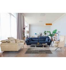 Ensemble canapé triple convertible et fauteuil ENZO bleu