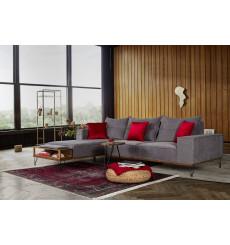 Canapé d'angle SOFT gris 280 x 200 cm