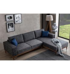 Canapé d'angle SMART gris 265 x 182 cm