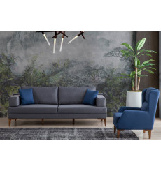 Ensemble canapé triple et fauteuil PUZZLE 230 cm