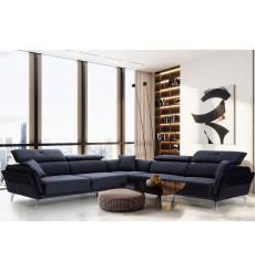 Canapé d'angle électrique ENZO bleu 315 x 315 cm