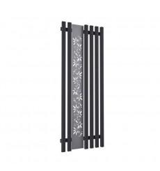 Radiateur eau chaude FLOWER noir mat en plusieurs dimensions