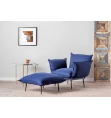 Ensemble fauteuil et pouf ASPEN en plusieurs couleurs