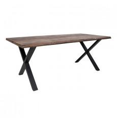 Table à manger TOULON en chêne massif gris fumée 240x95 cm