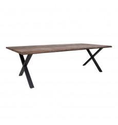 Table à manger TOULON en chêne massif gris fumée 300x100 cm