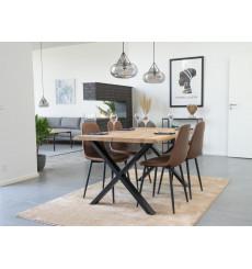 Table à manger TOULON en chêne massif 140x95 cm