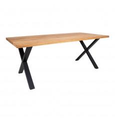 Table à manger MONTPELLIER II chêne clair 200x95 cm
