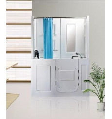 Combiné baignoire à porte sans balnéo MALÉ 152*81